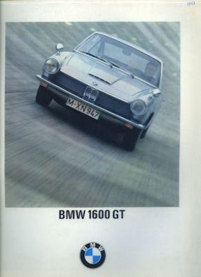 BMW 1600 GT Prospekt 8.1967
