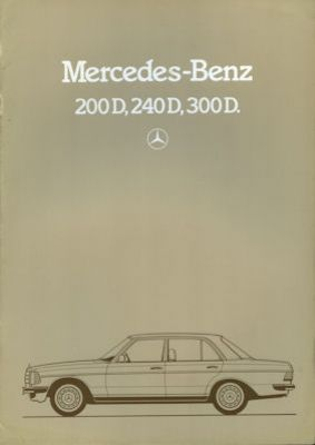 Mercedes-Benz 200 D-300 D Prospekt 1984 0