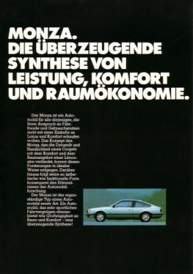 Opel Monza Prospekt 9.1979 0
