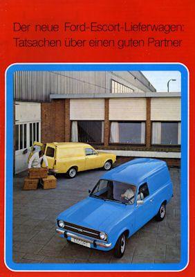 Ford Escort Lieferwagen Prospekt ca. 1975 0