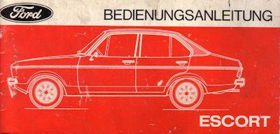 Ford Escort Bedienungsanleitung owner`s VII.1975 0