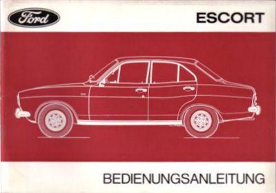 Ford Escort Bedienungsanleitung III.1972 0