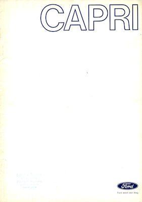 Ford Capri Farben 9.1970 0