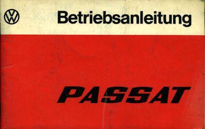 VW Passat Bedienungsanleitung 1975 0