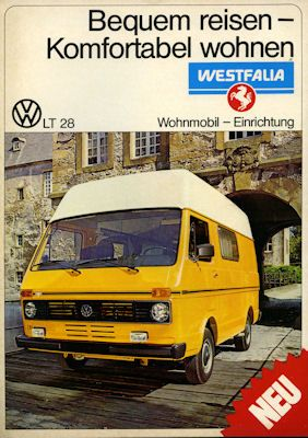 VW LT 28 Westfalia Wohnmobil Prospekt 1976 0