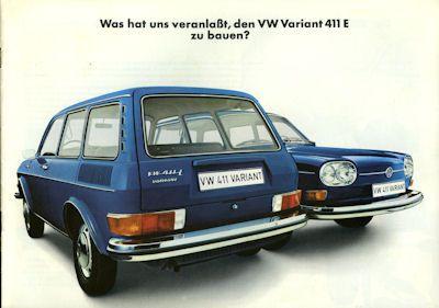 VW Variant 411E Prospekt 7.1969 0