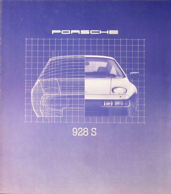 Porsche 928 S Prospekt 1980 0