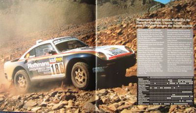Porsche Original Teile Prospekt 1987 1