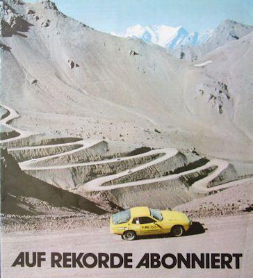 Porsche 924 Testfahrten Prospekt 1977 0