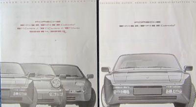 Porsche Farben / Techn. Daten 1991 0