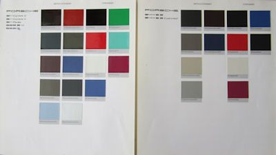 Porsche Farben / Techn. Daten 1991 1