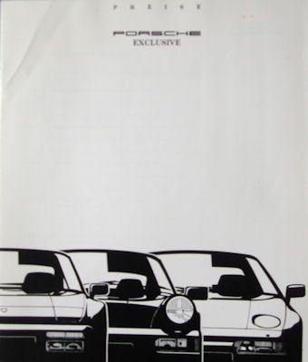 Porsche Preisliste 8.1989 0