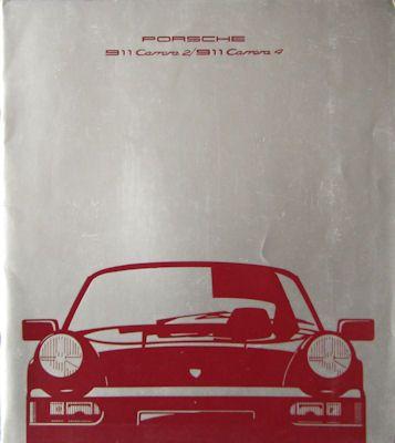 Porsche 911 Prospekt 8.1989