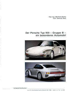 Porsche 959 Test Sonderdruck 9.1986