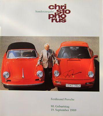 Porsche Christophorus Sonderausgabe 9.1989 0