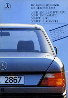 Mercedes-Benz 200 D- 300 D Turbo 4Matic Prospekt 1989 0