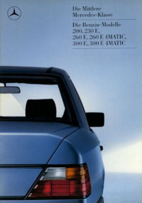 Mercedes-Benz 200- 300 E 4Matic Prospekt 1987 0
