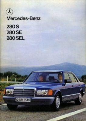 Mercedes-Benz 280 S SE SEL Prospekt 1980 0