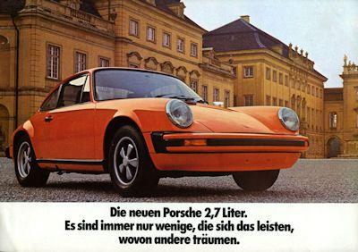 Porsche 911 2,7 Liter Prospekt ca. 1973 0