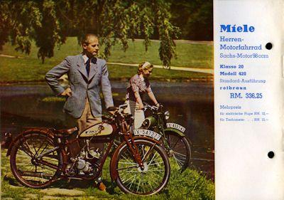 Miele Motorfahrrad Prospekt 8.1937 2
