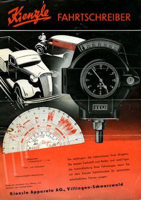 Kienzle Fahrtschreiber Prospekte ca. 1940 0