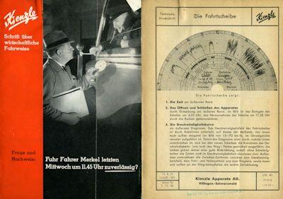 Kienzle Fahrtschreiber Prospekte ca. 1940 1