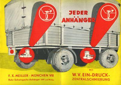Meiller W.V. Ein-Druck-Zentralschmierung Prospekt ca. 1940 0