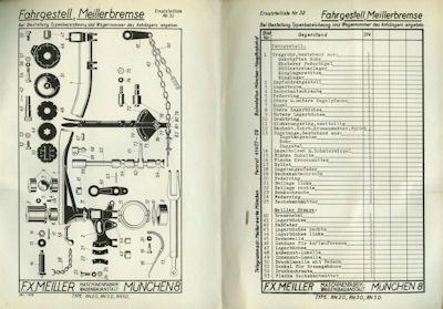 Meiller W.V. Ein-Druck-Zentralschmierung Prospekt ca. 1940 1