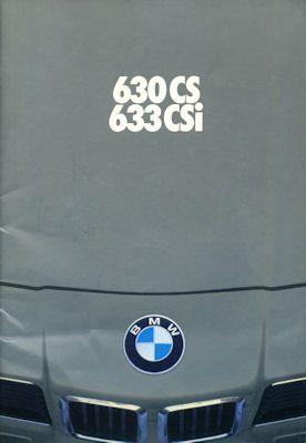 BMW 630 CS 633i CSI Prospekt 1.1977 0