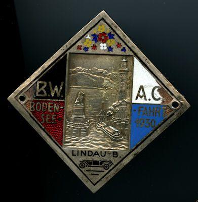 Plakette Bodensee 1930 0