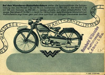 Wanderer Fahrrad Prospekt 12.1937 3