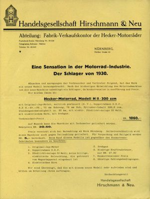Hecker Brief 1930 0