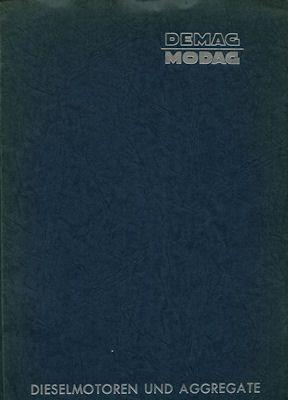 DEMAG-MODAG Schiffsmotoren Prospekt-Mappe ca. 1955 0