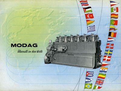 DEMAG-MODAG Schiffsmotoren Prospekt-Mappe ca. 1955 2