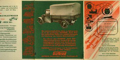 Gutbrod Heck 504 Prospekt 1949 0