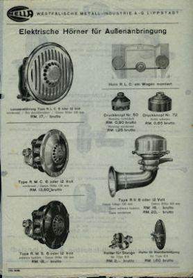 Hella Elektrische Hörner 1934 0