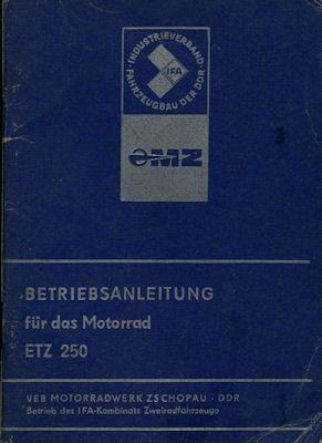 MZ ETZ 250 Bedienungsanleitung 4.1980