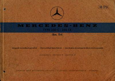 Mercedes-Benz 250 C CE Ersatzteilliste 7.1969