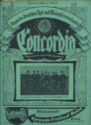 Concordia Feb-März 1922 0