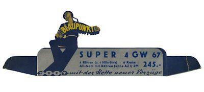 Original Blaupunkt Werbeaussteller 1930er Jahre 0