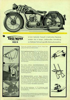 Triumph 200 K Prospekt 1935 2