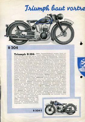 Triumph Programm 1939 1