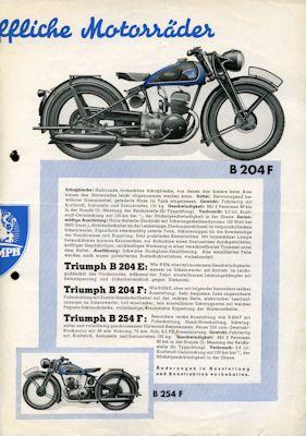 Triumph Programm 1939 2