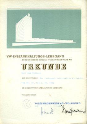 VW Broschüre zur Instandsetzungs-Lehrgang 1962 3