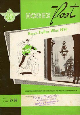 Horex Hauspost 1956 Heft 2 0
