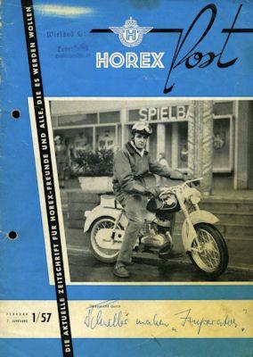 Horex Hauspost 1957 Heft 1