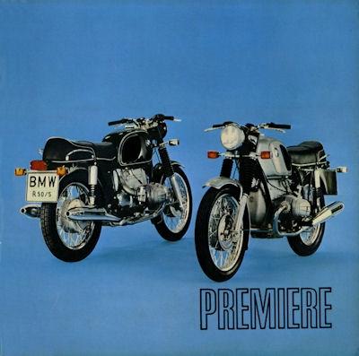 BMW Premiere R 50/5, R 60/5 und R 75/5 8.1969 0