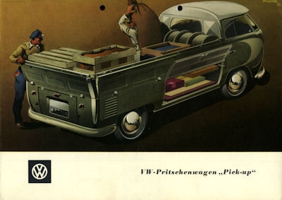 VW Pritschenwagen Pick up Prospekt ca. 1952 0