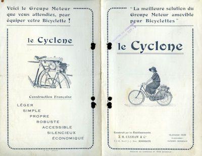 Cyclone moteur bicyclette Prospekt 1920er Jahre
