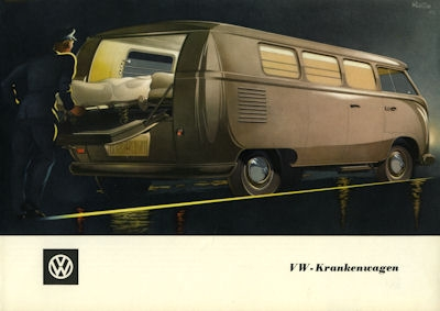 VW Krankenwagen Prospekt ca. 1952 0